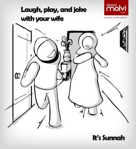 laugh, joke and play with your wife