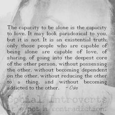 Osho- Being alone